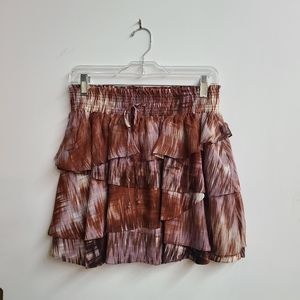NWT Elizabeth & James Silk Hillary Tiered Skirt